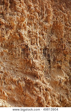 Rough clay surface of breakage
