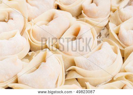 Chinese dumpling close up