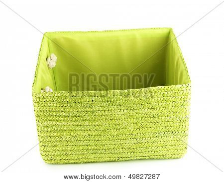 Empty color basket, isolated on white