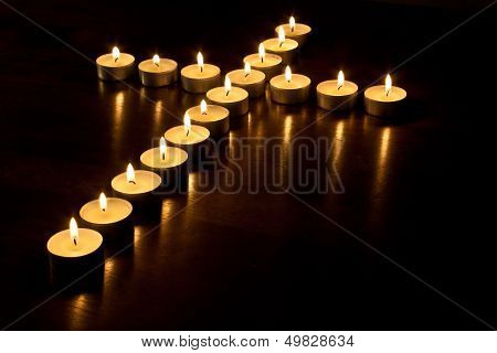 Tea Light Cross