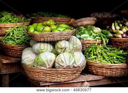 Vegetables At Indian Market