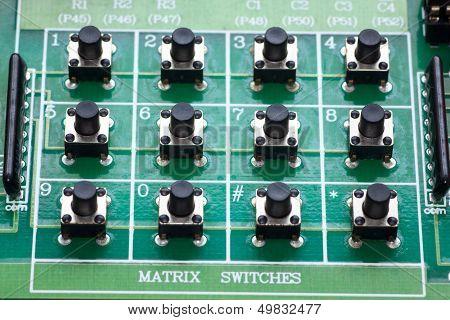 4x3 matrix push botton switch on board poster
