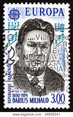 Postage Stamp France 1985 Darius Milhaud, Composer