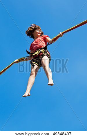 Girl On Bungee Cord