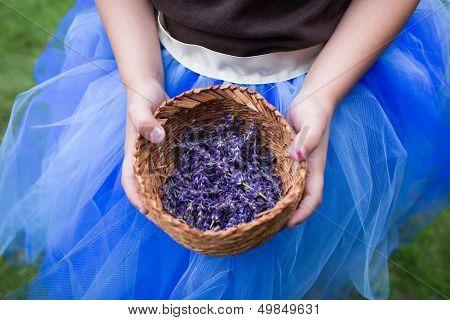 Flower Girl Holding Lavender