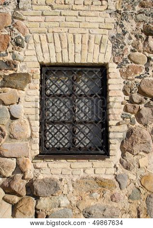 Window Iron Protect Bar Retro Brick Stone House