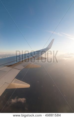 Wing Of An Airliner In The Sky