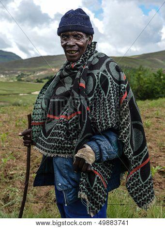 Native Basotho Man From Butha-buthe Region Of Lesotho