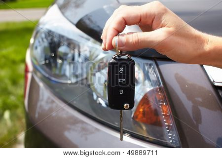 Car key. Auto dealership concept.