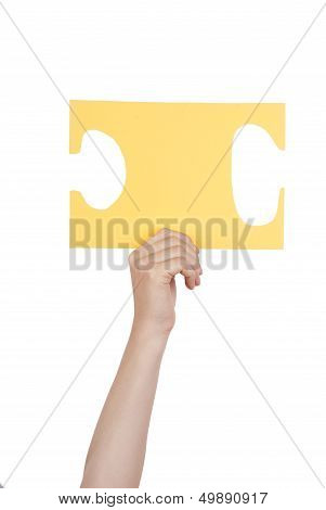 Person Holding Yellow Puzzle