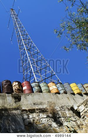 Gsm Cell Antenna In Demilitarization Zone In Nicosia