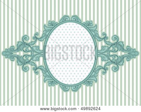 Illustration of a Vintage Frame with a Baroque Design