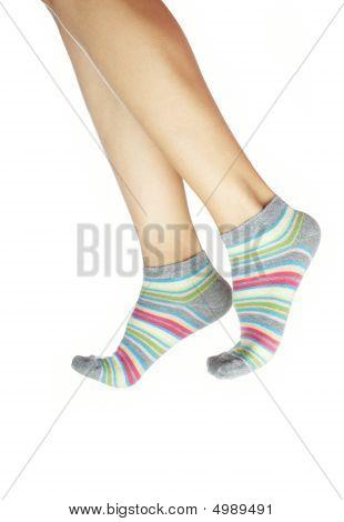 Human Legs In Hosiery