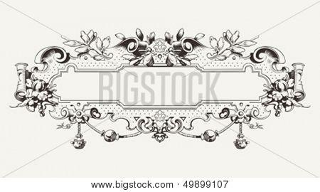 High Ornate Vintage Horizontal Banner