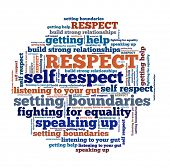 Respect Concept in word collage poster