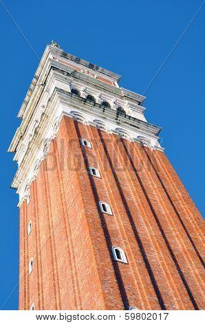 St Mark's Campanile bell tower. Campanile di San Marco Venice.