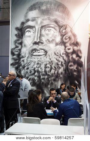 People Visiting Bit 2014, International Tourism Exchange In Milan, Italy