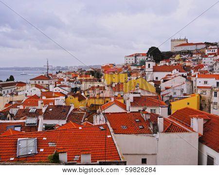 Alfama Skyline In Lisbon