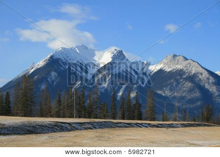 winter scenery in mountains