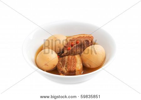 Thit Heo Kho Trung  Vietnamese Caramelised Pork Belly With Hard-boiled Eggs Braised In Coconut Water