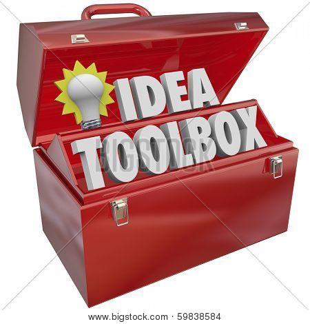 Idea Toolbox Light Bulb Tools Creativity Imagination Inspiration