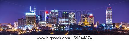 Nashville, Tennessee, USA downtown skyline. poster