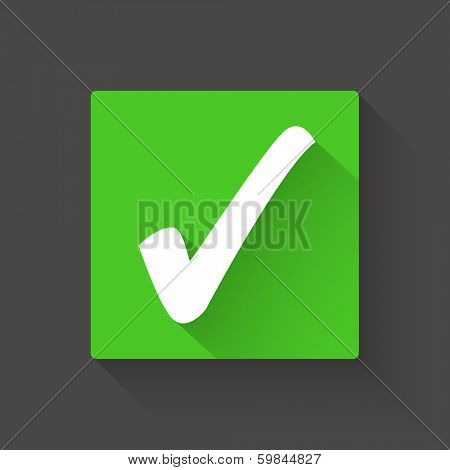 Check mark vector illustration
