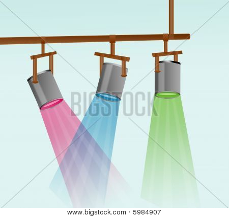 Colorful Stage Light Illustration