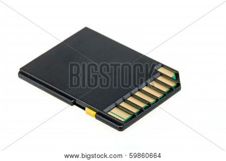 Sd-card Isolated On A White Background