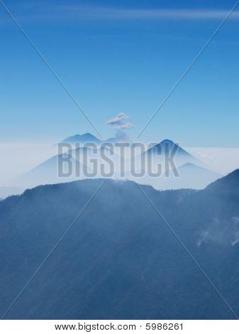Chain of volcanoes