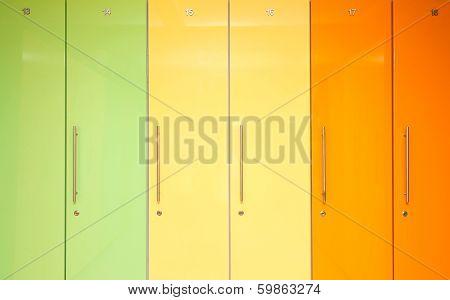Green Yellow And Orange Lockers