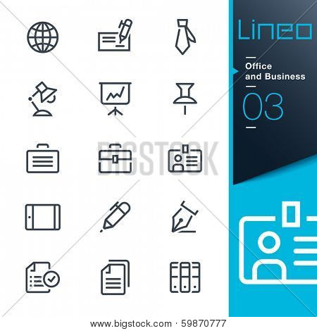 Lineo - Office and Business icons