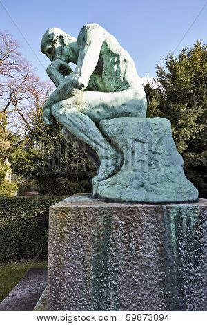 BRUSSELS- FEBRUARY 17 The Thinker by Auguste Rodin on february 17, 2014 in Brussel, Belgium.