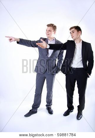 Two Young Businessman Posing.