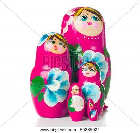Pink Matryoshka Russian Dolls