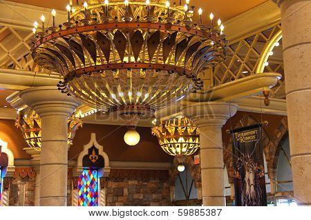 Interior The Excalibur Hotel And Casino In Las Vegas.