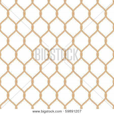 Rope marine net pattern