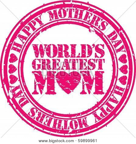 Grunge Happy mother's day rubber stamp, vector illustration