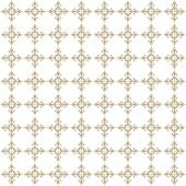 Beige seamless ornamental pattern on white background poster
