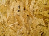 Press particle board made of wood flakes poster