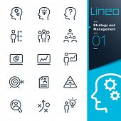 Lineo - Strategy and Management icons poster