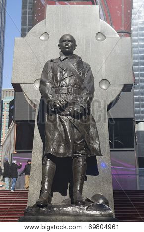 Father Duffy Monument on Times Square in Manhattan