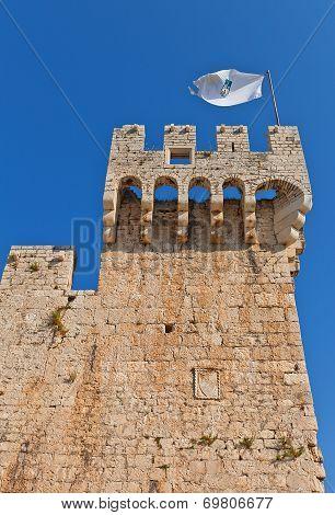 Tower Of Kamerlengo Castle (1437). Trogir, Croatia