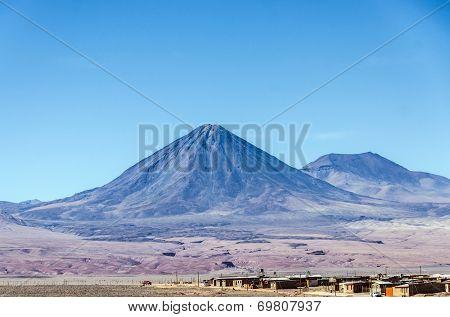 Licancabur volcano, view from San Pedro de Atacama, Chile