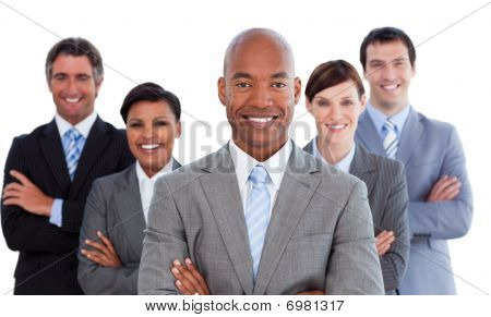 Portrait Of Joyful Business Team