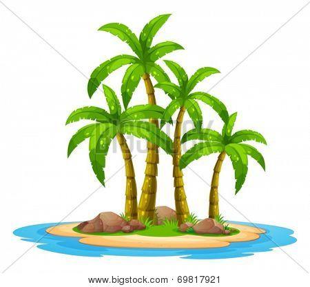 Illustration of an desert island