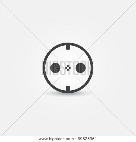 Vector electric outlet icon