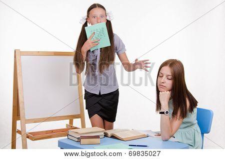 Sleeing Teacher