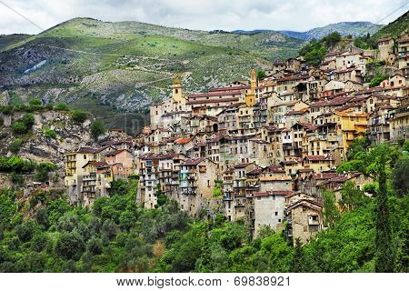 on of the beautiful mountain villages in France - Saorge, Alpes Maritimes