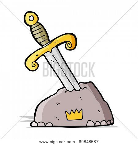 cartoon sword in stone